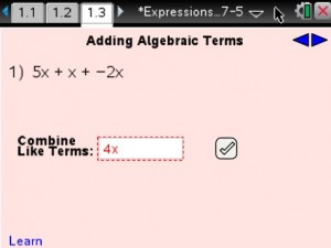 Lesson 4 - Adding Algebraic Terms
