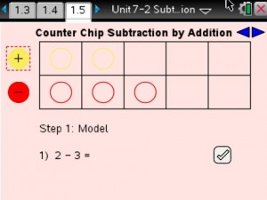 Lesson 5 - Counter Chip Subtraction by Addition