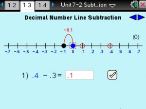 Lesson 3 - Decimal Number Line Subtraction