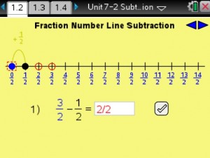 Lesson 2 - Fraction Number Line Subtraction