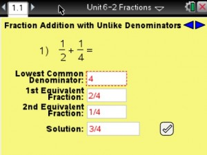 Lesson 2 - Fraction Addition with Unlike Denominators