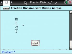 Lesson 5 - Fraction Division with Divide Across