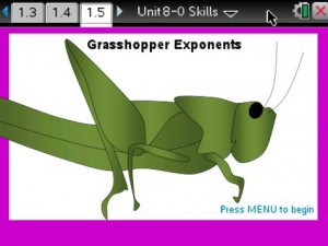 Grasshopper Exponents