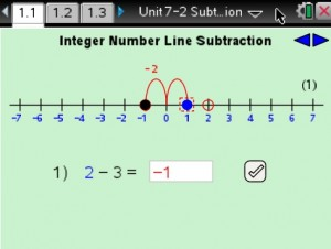 Lesson 1 - Integer Number Line Subtraction