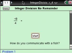 Lesson 1 - Integer Division No Remainder