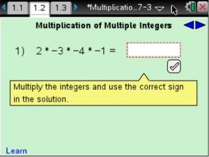 Lesson 1 - Multiplication of Multiple Integers