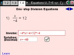 Lesson 4 - One-step Division Equations
