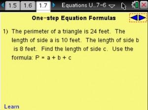 Lesson 7 - One-step Equation Formulas