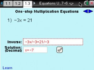 Lesson 3 - One-step Multiplication Equations