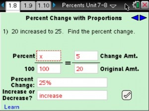 Lesson 8 - Percent Change with Proportions