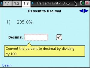 Lesson 1 - Percent to Decimal