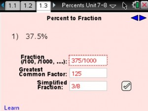 Lesson 3 - Percent To Fraction
