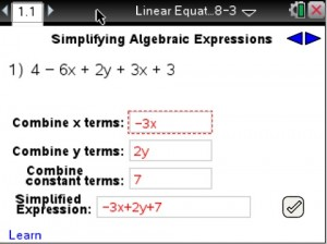 Lesson 1 - Simplifying Algebraic Expressions