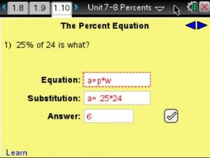 Lesson 7 - The Percent Equation