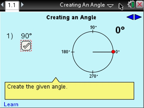Lesson 1 - Creating an Angle