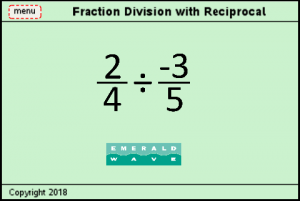 Lesson 4 - Fraction Division With Reciprocal