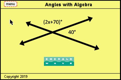 Unit 7-5 Angles With Algebra